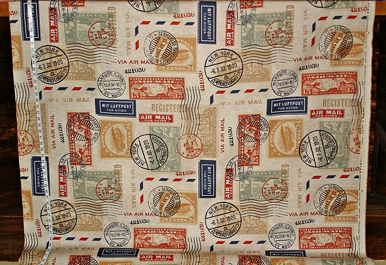 Travel Fabric Postage Stamp Mail From Brick House Fabric