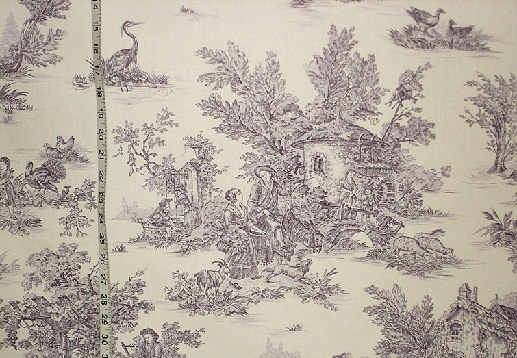 is the french country purple toile fabric